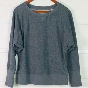 LOFT LOUNGE Gray Boatneck Sweatshirt